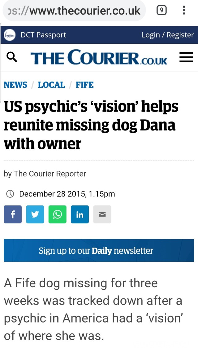Dana Fife Courier Headline